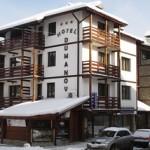 Здание отеля зимой